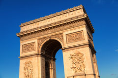 Arc de Triomphe στην ημέρα, Παρίσι Στοκ Φωτογραφία