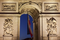 Arc de Triomphe στην πλατεία του Charles de Gaulle, Παρίσι, ile-de-φ Στοκ Εικόνες