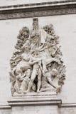 Arc de Triomphe στους Elysian τομείς Στοκ Φωτογραφίες