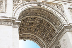 Arc de Triomphe στους Elysian τομείς Στοκ φωτογραφία με δικαίωμα ελεύθερης χρήσης