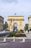 Arc de Triomphe στο Μονπελιέ, που χρονολογεί από το 1692, με το surroun Στοκ Φωτογραφία