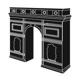 Arc de Triomphe στο Παρίσι Αψίδα που χτίζει το ενιαίο εικονίδιο Διανυσματική απεικόνιση