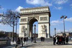 Arc de Triomphe στο Παρίσι, Γαλλία Ευρώπη Στοκ Εικόνα