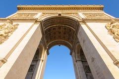 Arc de Triomphe στο Παρίσι, Γαλλία Στοκ εικόνες με δικαίωμα ελεύθερης χρήσης