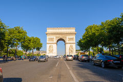 Arc de Triomphe στο Παρίσι, Γαλλία Στοκ Εικόνα