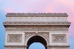 Arc de Triomphe στο Παρίσι, κορυφή στεγών Στοκ Εικόνα