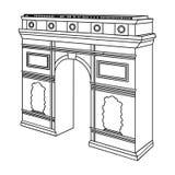 Arc de Triomphe στο Παρίσι Κτήριο αψίδων στο διανυσματικό Ιστό απεικόνισης αποθεμάτων συμβόλων Διανυσματική απεικόνιση