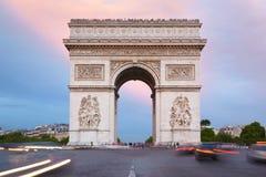 Arc de Triomphe στο Παρίσι, πρωί Στοκ φωτογραφία με δικαίωμα ελεύθερης χρήσης