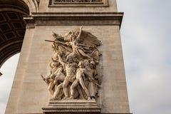 Εικόνα λεπτομέρειας Arc de Triomphe στο Παρίσι - τη Γαλλία Στοκ Φωτογραφία