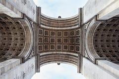 Εικόνα λεπτομέρειας Arc de Triomphe στο Παρίσι - τη Γαλλία Στοκ Εικόνα