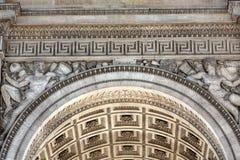 Arc de Triomphe στο Παρίσι Στοκ εικόνες με δικαίωμα ελεύθερης χρήσης