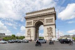 Arc de Triomphe στο Παρίσι Στοκ φωτογραφία με δικαίωμα ελεύθερης χρήσης