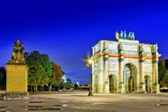 Arc de Triomphe στο τετραγωνικό Karruzel (Jardin des Tuileries). Στοκ Φωτογραφία