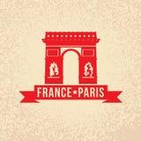 Arc de Triomphe - το σύμβολο της Γαλλίας, Παρίσι Στοκ εικόνα με δικαίωμα ελεύθερης χρήσης