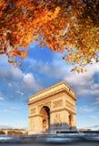 Arc de Triomphe το φθινόπωρο, Παρίσι, Γαλλία Στοκ Φωτογραφία
