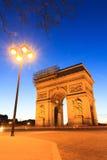 Arc de Triomphe φανάρι Στοκ Εικόνες