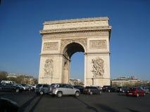 Arc de Triomphe φως του ήλιου Στοκ Φωτογραφίες
