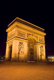 Arc de Triomphe. The Arc de Triomphe at night - Charles de Gaulle square,  Paris, France Stock Photos