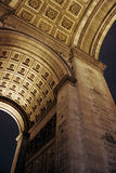 Arc de Triomphe. View of the Arc de Triomphe arch and interiors Stock Photos