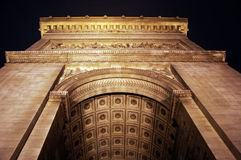 Arc de Triomphe. View of the Arc de Triomphe arch from the floor Royalty Free Stock Image