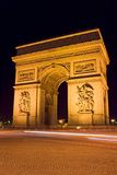 Arc de Triomphe. The Arc de Triomphe at night - Charles de Gaulle square,  Paris, France Stock Photography