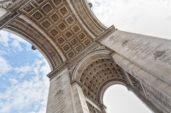 Arc de triomphe. View from below Stock Photo