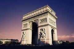 Arc de Triomphe Royaltyfria Foton