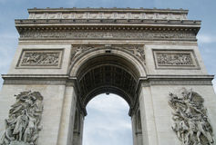 Arc de Triomphe. Looking up at the Arc de Triomphe,  in Paris Stock Image