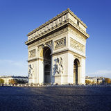 Arc de Triomphe. View of the Arc de Triomphe in morning light Stock Photo