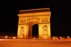 Arc de triomphe. In Paris Royalty Free Stock Images