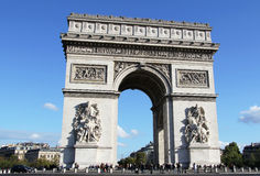 Arc de Triomphe. Famous monument of Triumph arc in Champs Elysees . Paris Royalty Free Stock Photography