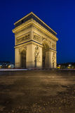 Arc de Triomphe. At night in Paris France Royalty Free Stock Photo