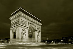 Arc de triomphe. Charles de Gaulle square, Paris, France Stock Photography