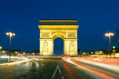 Arc de triomphe. Charles de Gaulle square, Paris, Ile de France, France Royalty Free Stock Photography