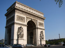 Arc de triomphe. Arc de triumph Paris France Royalty Free Stock Images