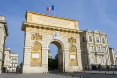 Arc de Triomphe. The triumph in Montpellier, France (2011 Royalty Free Stock Photo