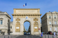 Arc de Triomphe. The triumph in Montpellier, France (2011 Stock Photo