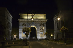 Arc de Triomphe. The triumph in Montpellier, France in the evening (2011 Stock Image