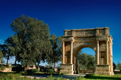 Arc de Triomphe. Is located at the site of the old Roman city Sbietla located in Tunisia. picture taken 12.11.2008 Stock Image