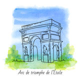 Arc de Triomphe διανυσματική απεικόνιση