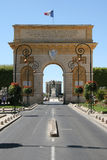 Arc de Triomphe. Place de la Comédie, Montpellier, France stock photo