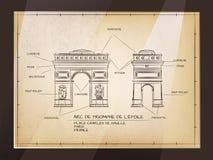 Arc de Triomphe Απεικόνιση αποθεμάτων