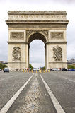Arc de Triomphe. Street level view of Arc de Triomphe from Avenue des Champs-Elysees Royalty Free Stock Image