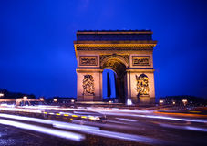 Arc de Triomphe. In Paris, by night Royalty Free Stock Image