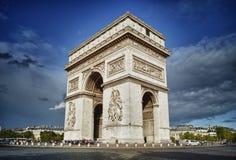 Arc de Triomphe. Arc de Triomphe against a blue sky - HDR view Stock Photography