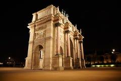 Arc de Triomphe al posto du Carrousel Fotografia Stock Libera da Diritti