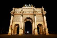 Arc de Triomphe al posto du Carrousel Fotografie Stock Libere da Diritti