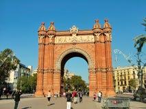 Arc de Triomphe (Arc de Triomf) στη Βαρκελώνη Στοκ Φωτογραφία
