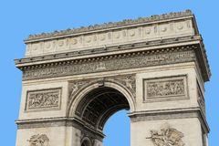 Arc de Triomphe. Arch of triumph on Charles de Gaulle Etoile place Les Champs Elysees Paris France Stock Photo