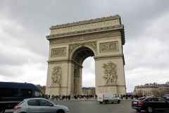 Arc de Triomphe. Arch of triumph on Charles de Gaulle Etoile place Les Champs Elysees Paris France Royalty Free Stock Image